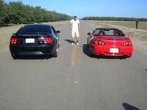 Mustang GT vshonda  S2000 -