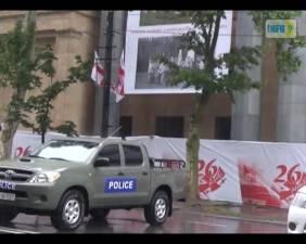 """წვიმიანი რუსთაველი და """"ვარდების მოედანი"""" - როგორ აღინიშნება 26 მაისი"""