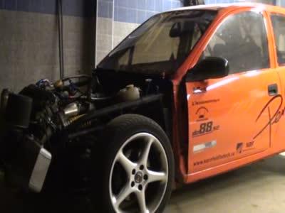 Opel corsa burnout