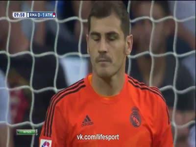 Real Madrid vs Atletico Madrid 1-2 All Goals La Liga 3 2014