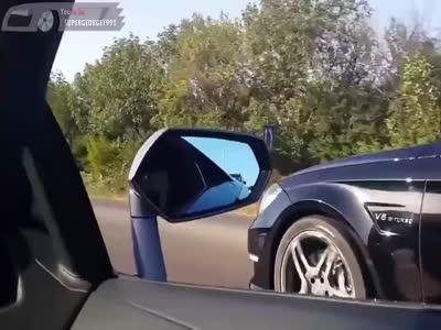 Lamborghini Avendator LP700 VS Mercedes-Benz CLS63 AMG Goergia.