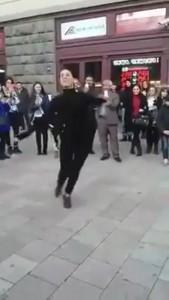 მარჯანიშვილზე ცეკვავენ ძალიან მაგრად