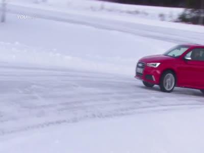 Audi  R8  Quattro-ოს ტესტ დრაივი თოვლიან გზებზე