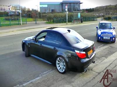 Epic BMW M5 E60 drift!