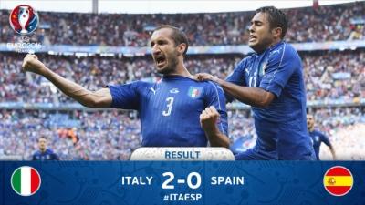 იტალია - ესპანეთი 2:0 / მატჩის ყველა საინტერესო მომენტი და გოლები