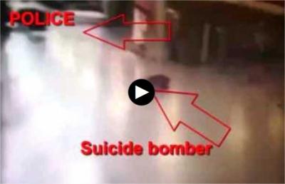 (18+) როგორ აიფეთქა თავი ტერორისტმა აეროპორტში - ვიდეო ინტერნეტიდან