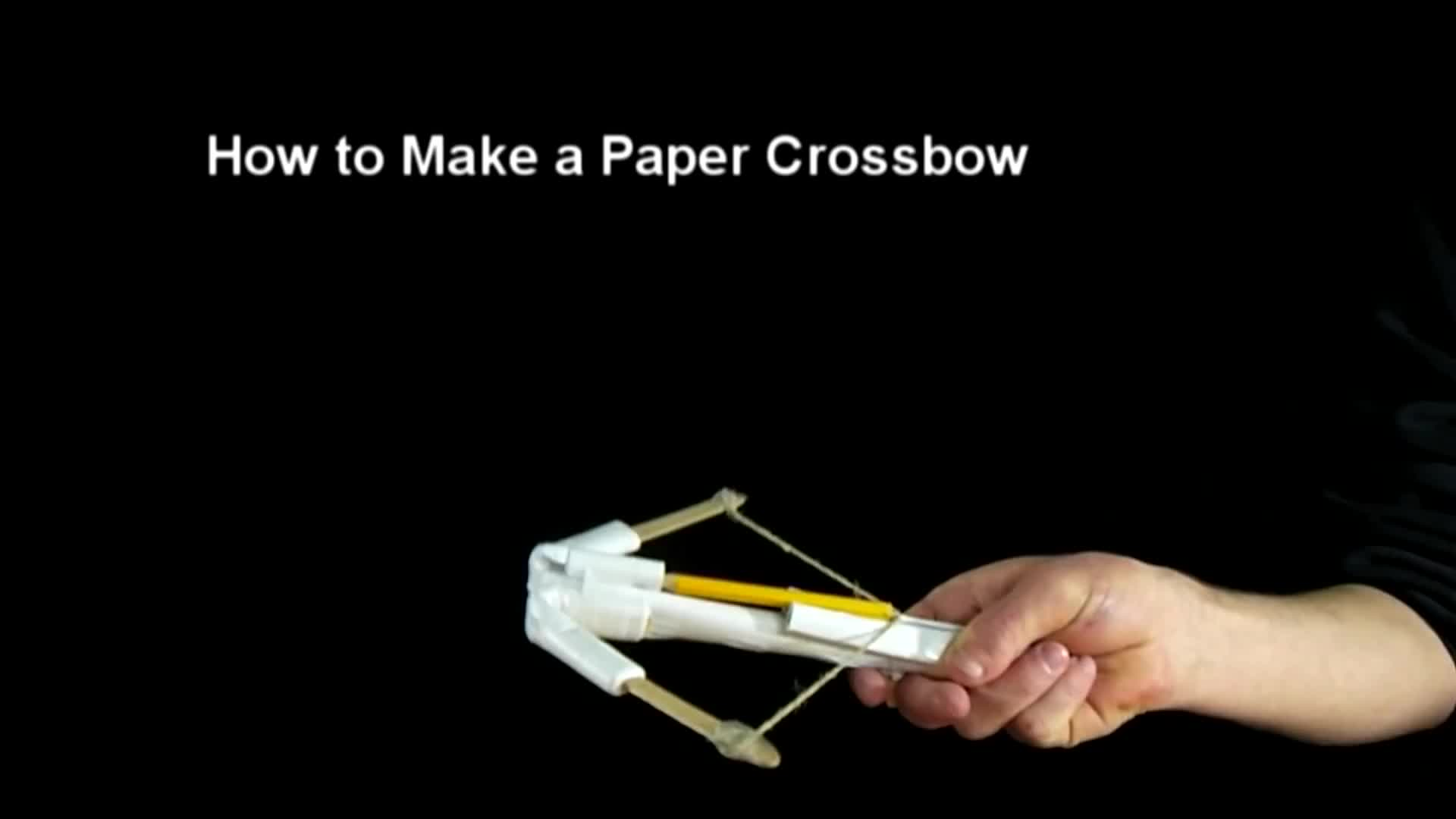 How to make a Paper Crossbow - YouTube | 1080x1920
