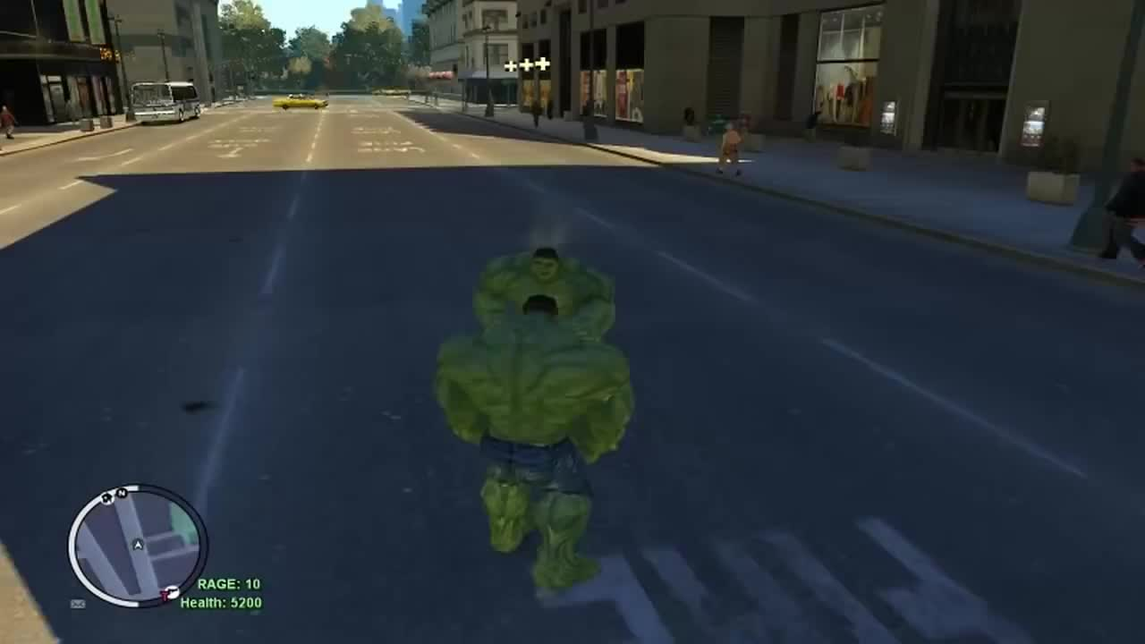 Grand Theft Auto IV - The Incredible Hulk Script (Hulk Enemy VS Hulk