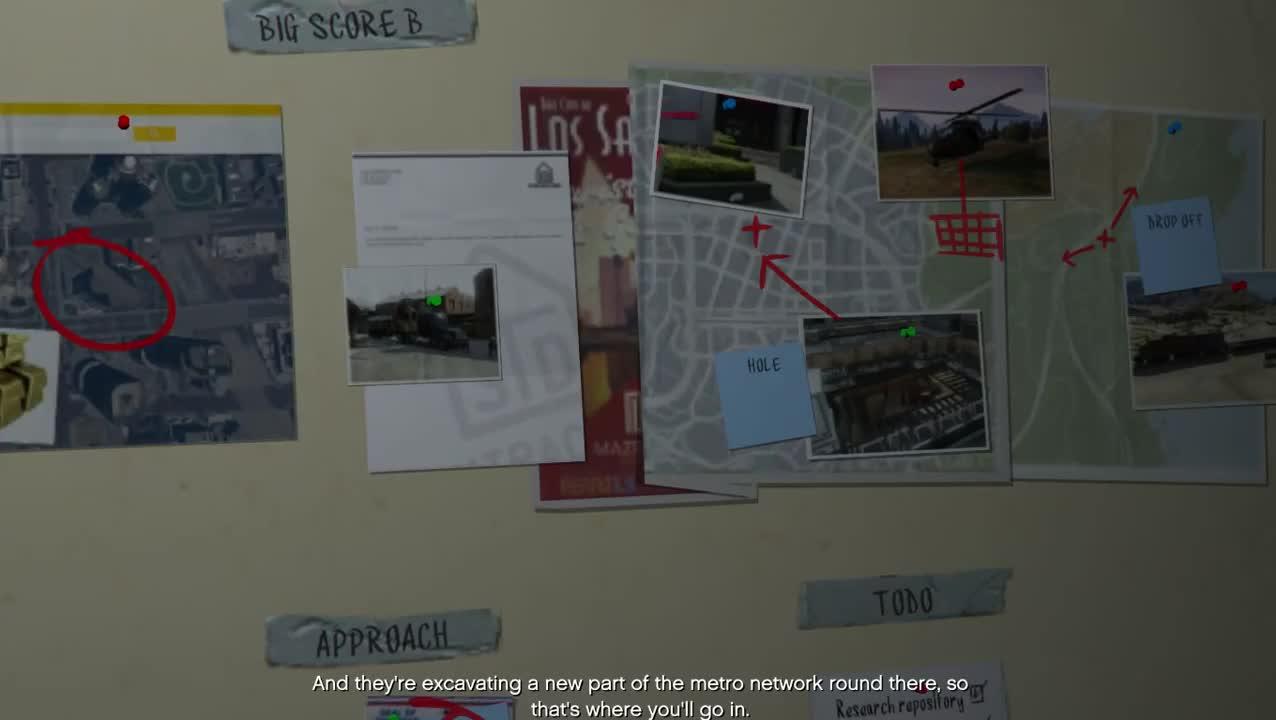 GTA 5-MISSION #75-THE BIG SCORE - MYVIDEO