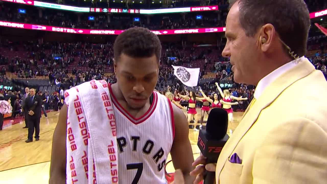 Kyle Lowry Talks Craig Sager and Villanova in Postgame Interview